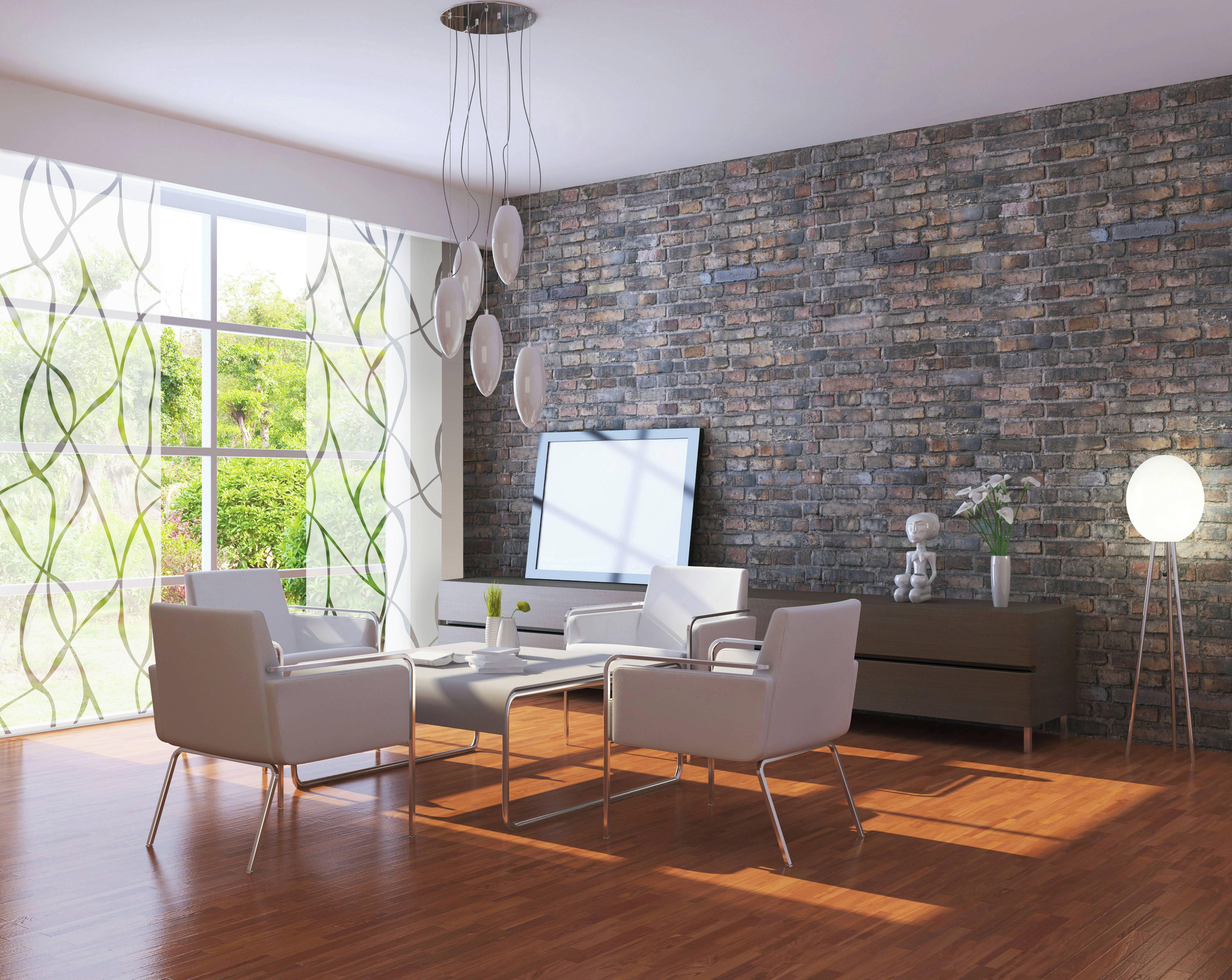 fl chenvorhang stoff wave wei grau 60 x 245 cm 1121060245. Black Bedroom Furniture Sets. Home Design Ideas