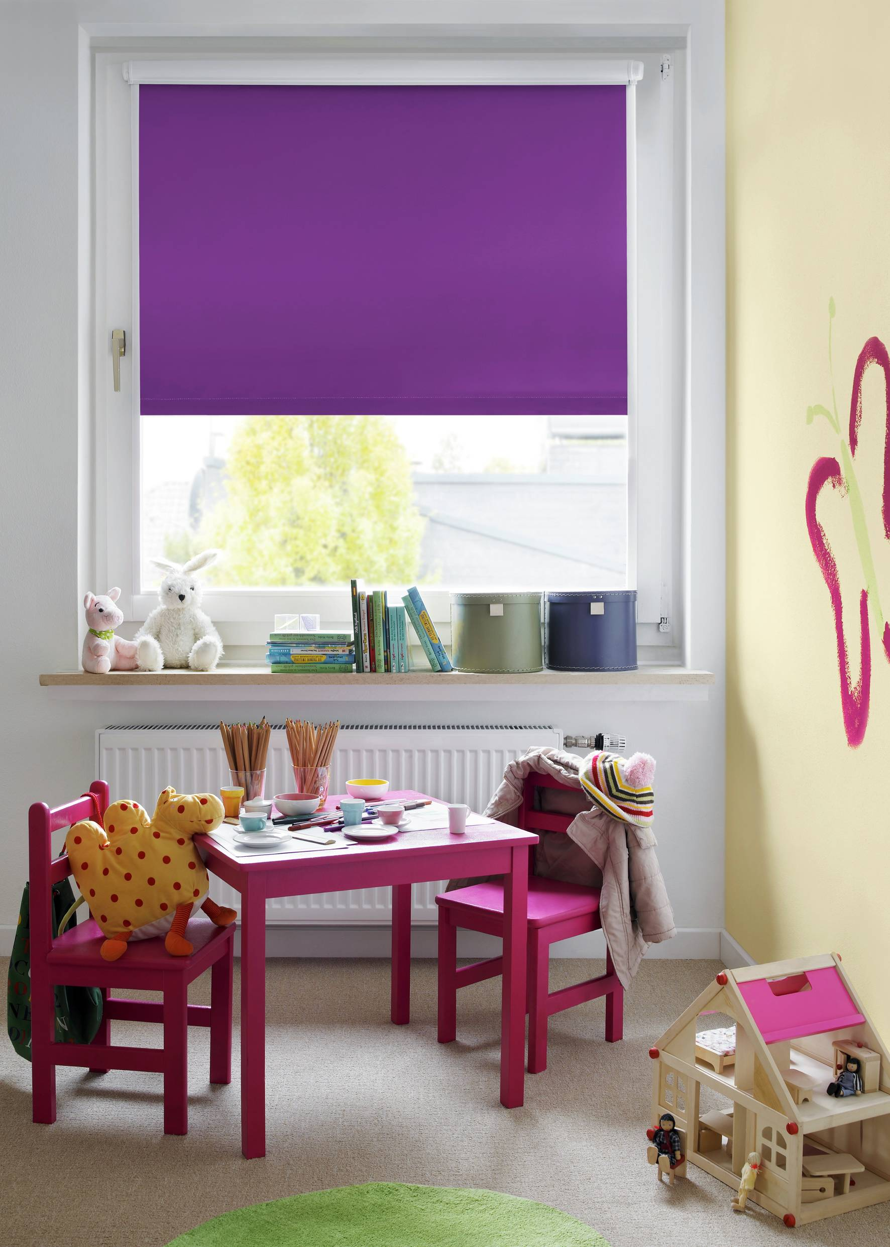 easyfix rollo thermo lila 120 x 150 cm 30743. Black Bedroom Furniture Sets. Home Design Ideas