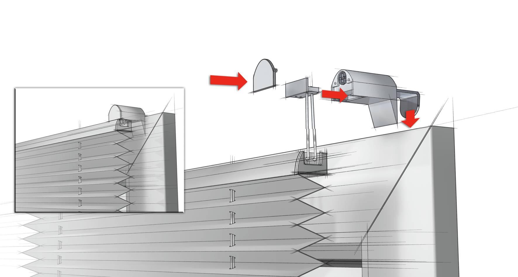 easyfix plissee schiefer 40 x 130 cm 33402. Black Bedroom Furniture Sets. Home Design Ideas