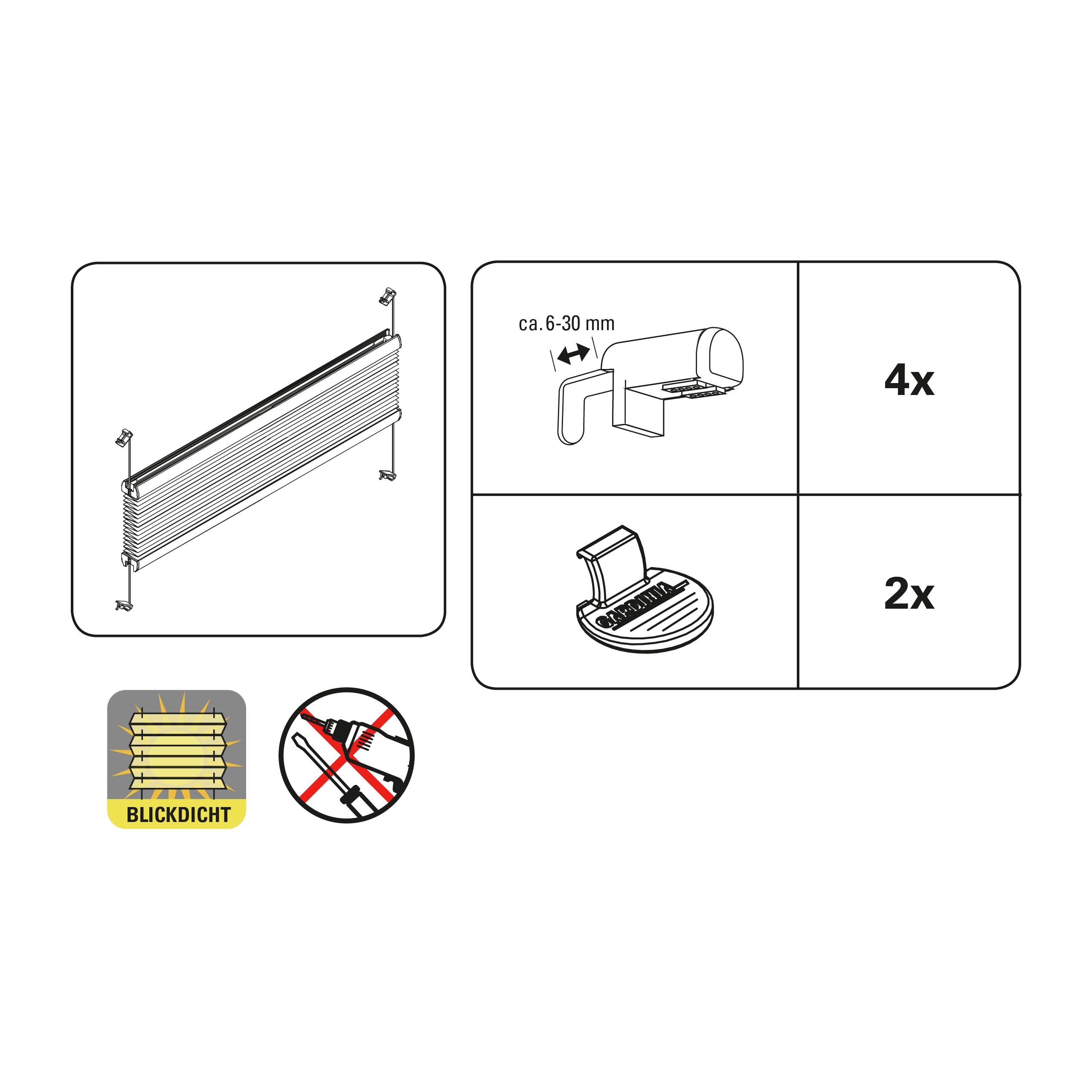 easyfix plissee ausbrenner dot wei 80 x 130 cm 33895. Black Bedroom Furniture Sets. Home Design Ideas