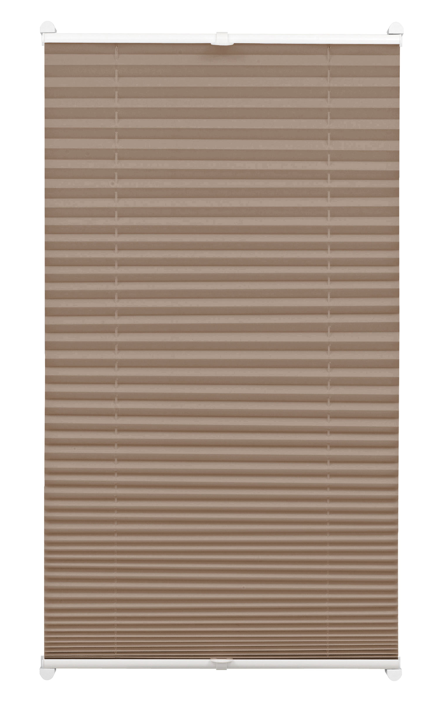 easyfix plissee taupe 70 x 130 cm 33077. Black Bedroom Furniture Sets. Home Design Ideas