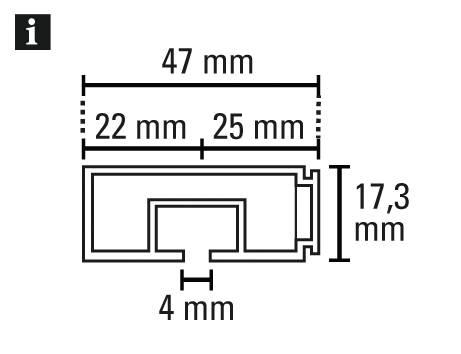 vorhangschiene ge1 wei 120 cm 8560. Black Bedroom Furniture Sets. Home Design Ideas