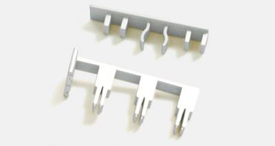 endst ck mit ausklinkung f r 3 lfg schienen silber 10010978. Black Bedroom Furniture Sets. Home Design Ideas