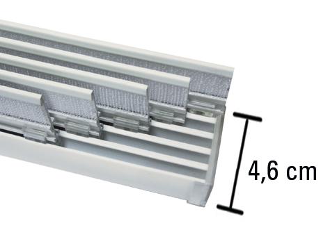 fl chenvorhangschiene komfort 5 l ufig aluminium 280 cm 31175. Black Bedroom Furniture Sets. Home Design Ideas