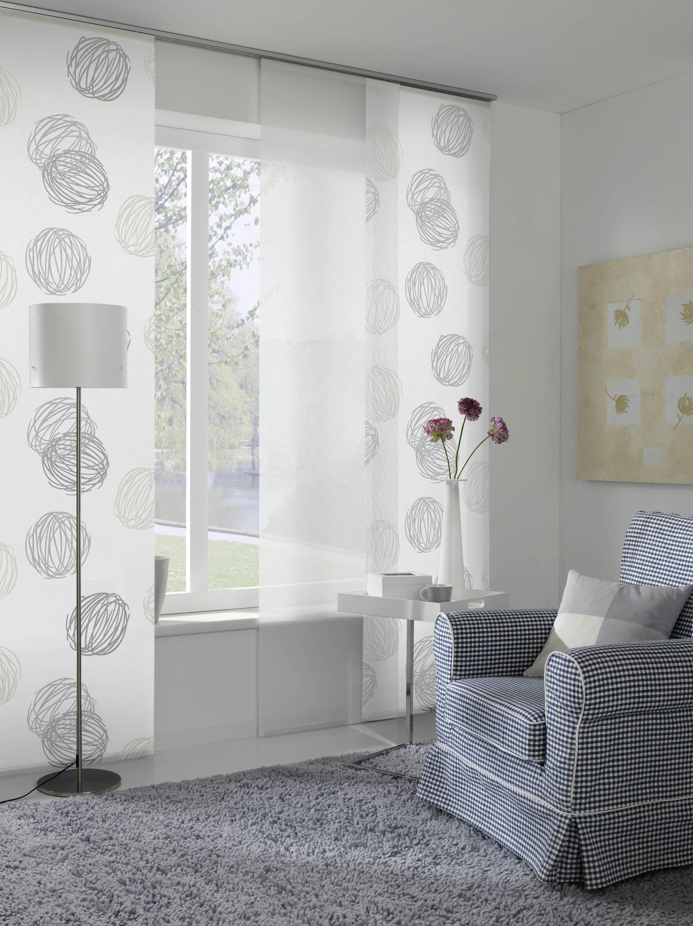 Fl chenvorhang stoff kn uel wei grau 60 x 245 cm 1122060245 for Fenster 60 x 30