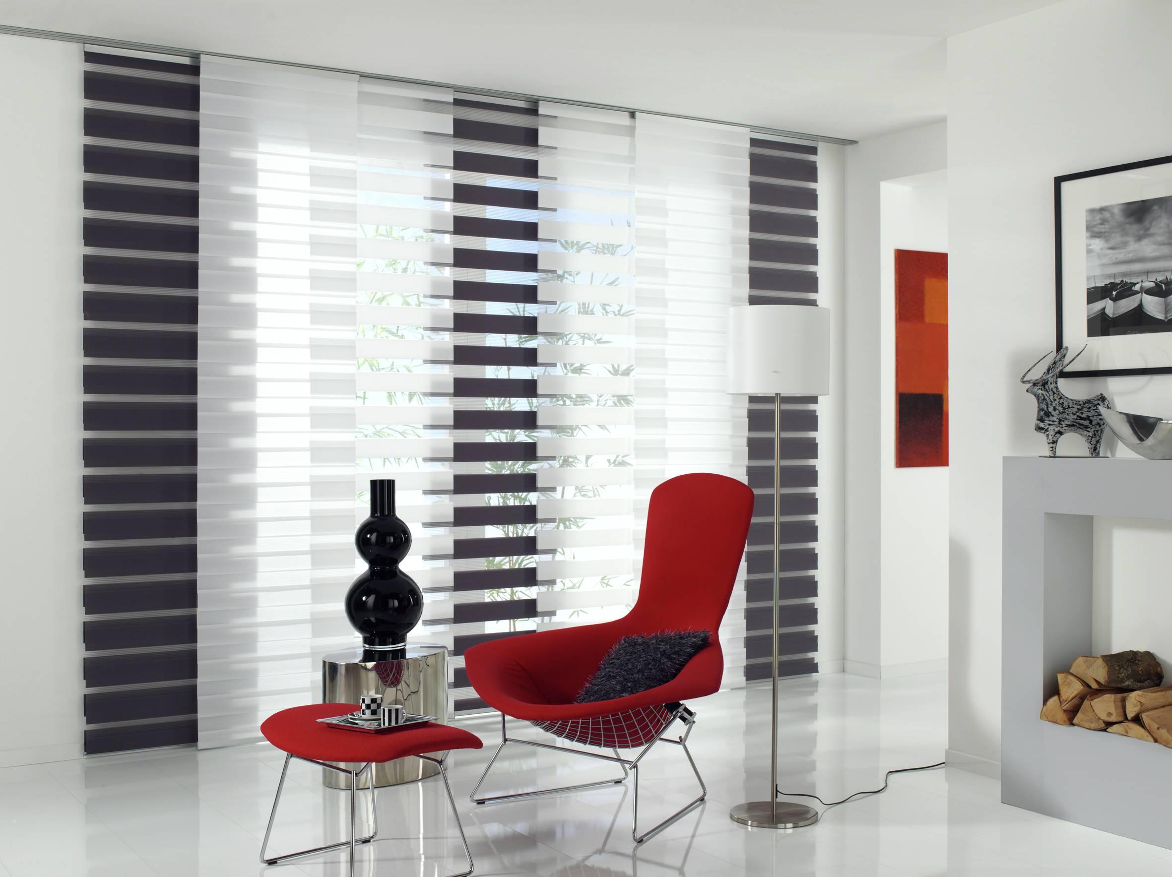 fl chenvorhang day night grau 60 x 245 cm 30321. Black Bedroom Furniture Sets. Home Design Ideas