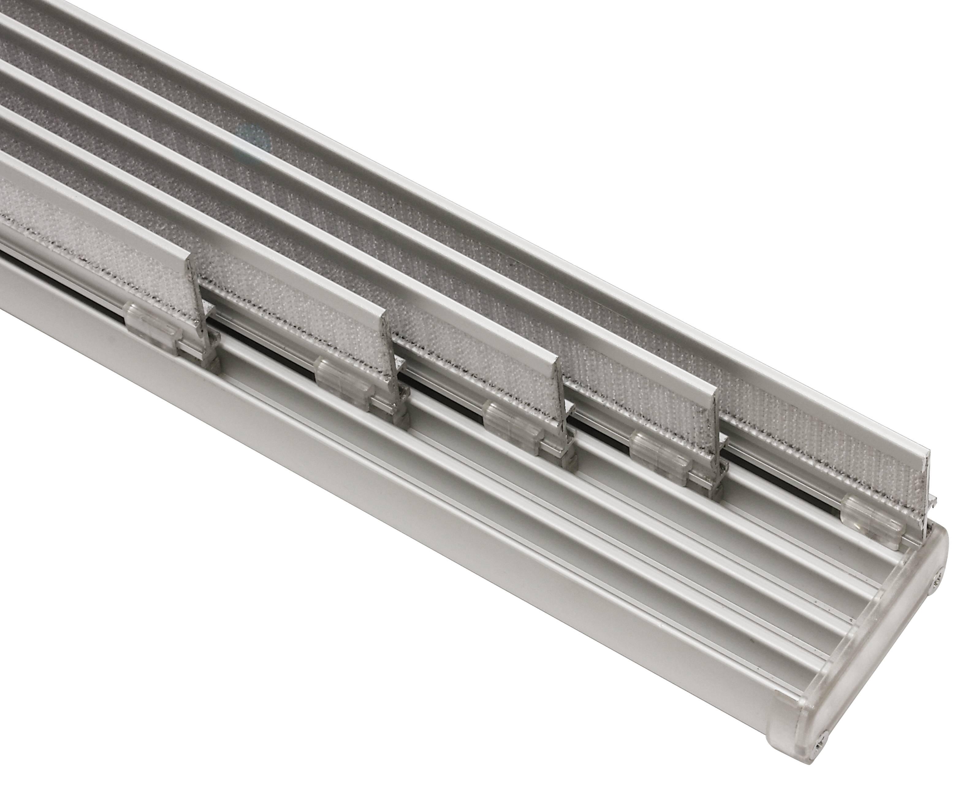 Häufig Flächenvorhangschiene Komfort 5-läufig aluminium 280 cm-31175 KK95