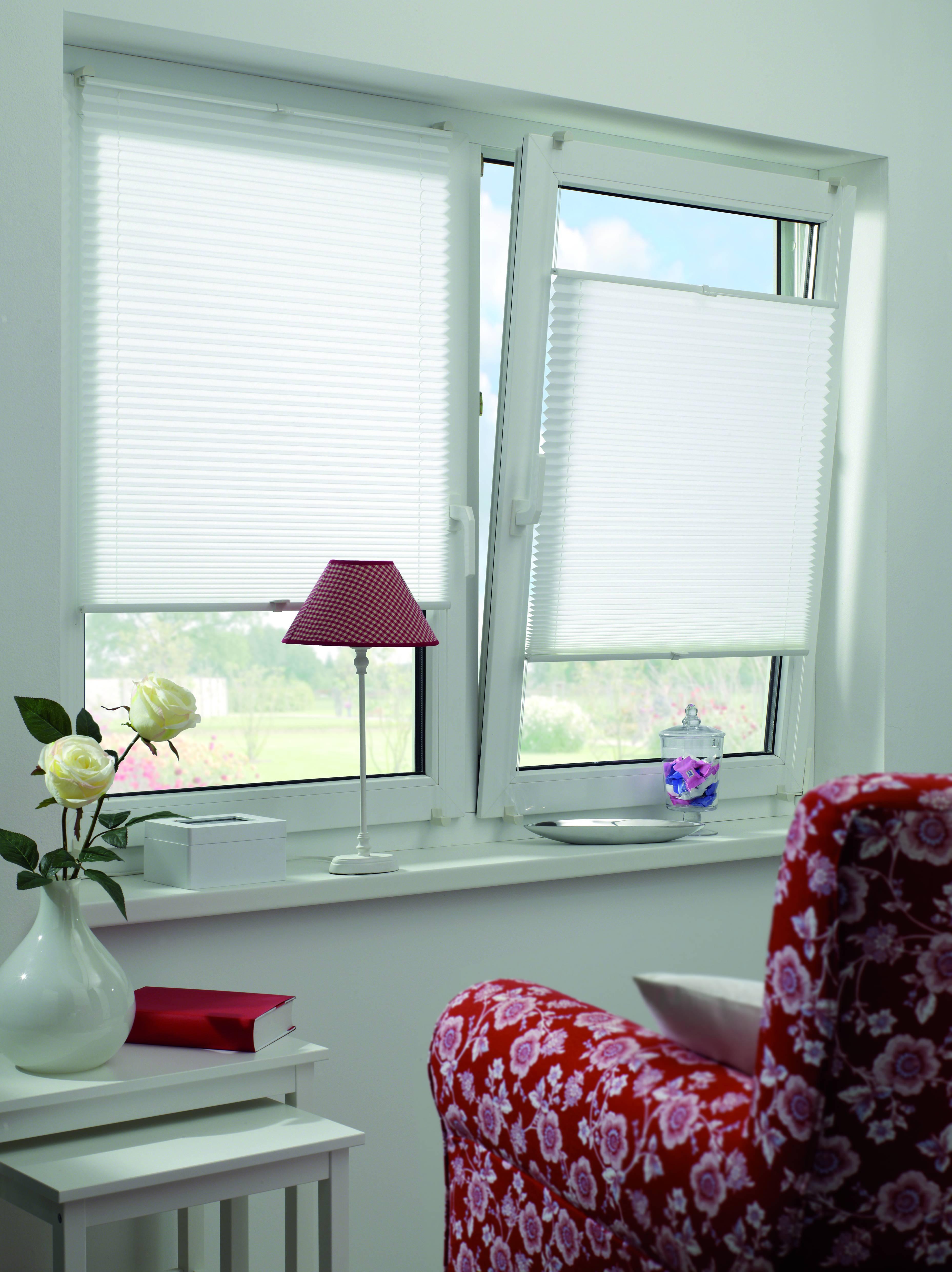 easyfix plissee wei 60 x 130 cm 31257. Black Bedroom Furniture Sets. Home Design Ideas