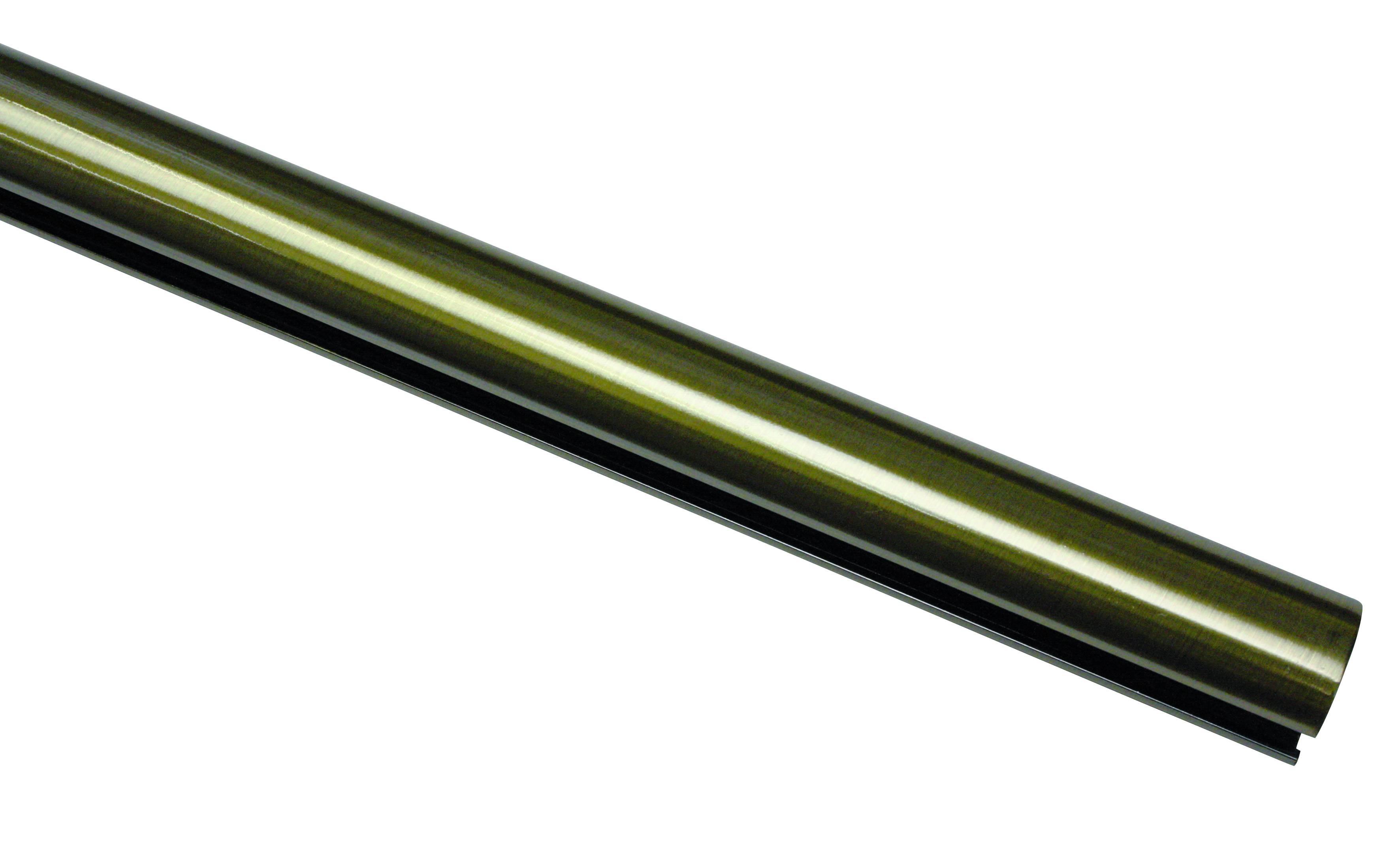 240 cm Gardinenstangen Messing Antik Ø 16 mm