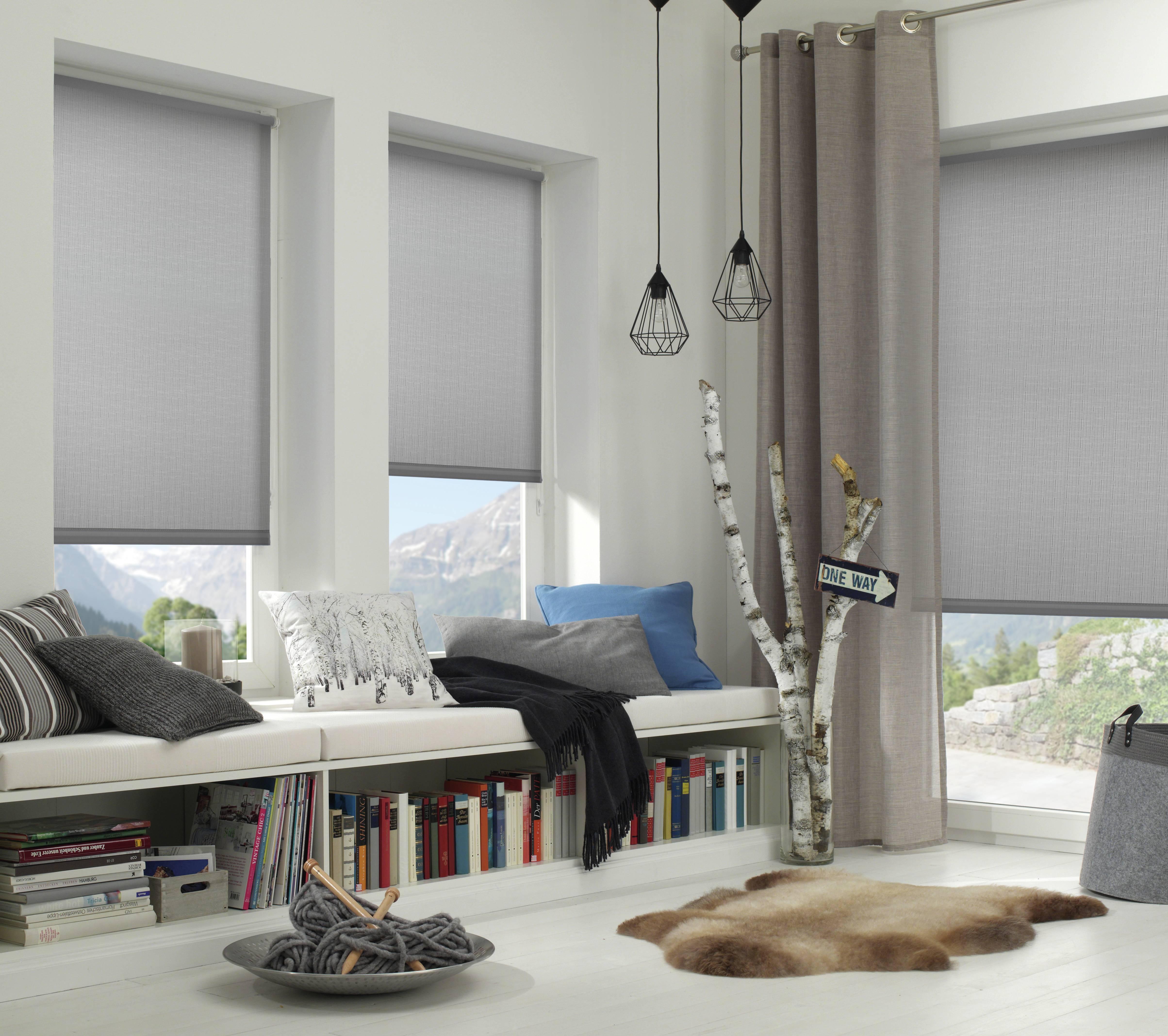easyfix rollo hellgrau 90 x 210 cm 32261. Black Bedroom Furniture Sets. Home Design Ideas