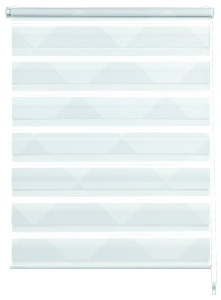 easyfix doppelrollo triangle wei grau 90 x 220 cm 32409. Black Bedroom Furniture Sets. Home Design Ideas