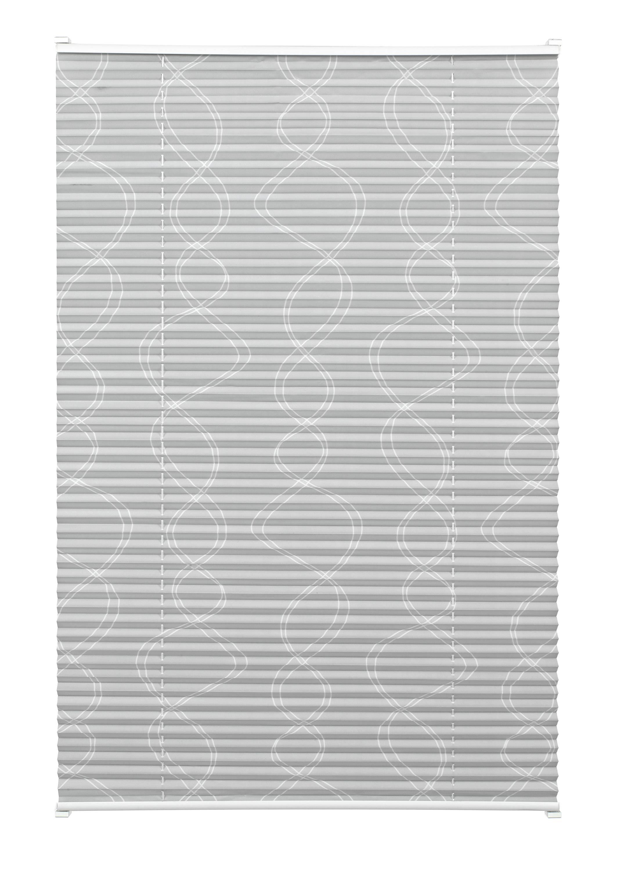 easyfix plissee dekor curl grau 50 x 130 cm 33815. Black Bedroom Furniture Sets. Home Design Ideas